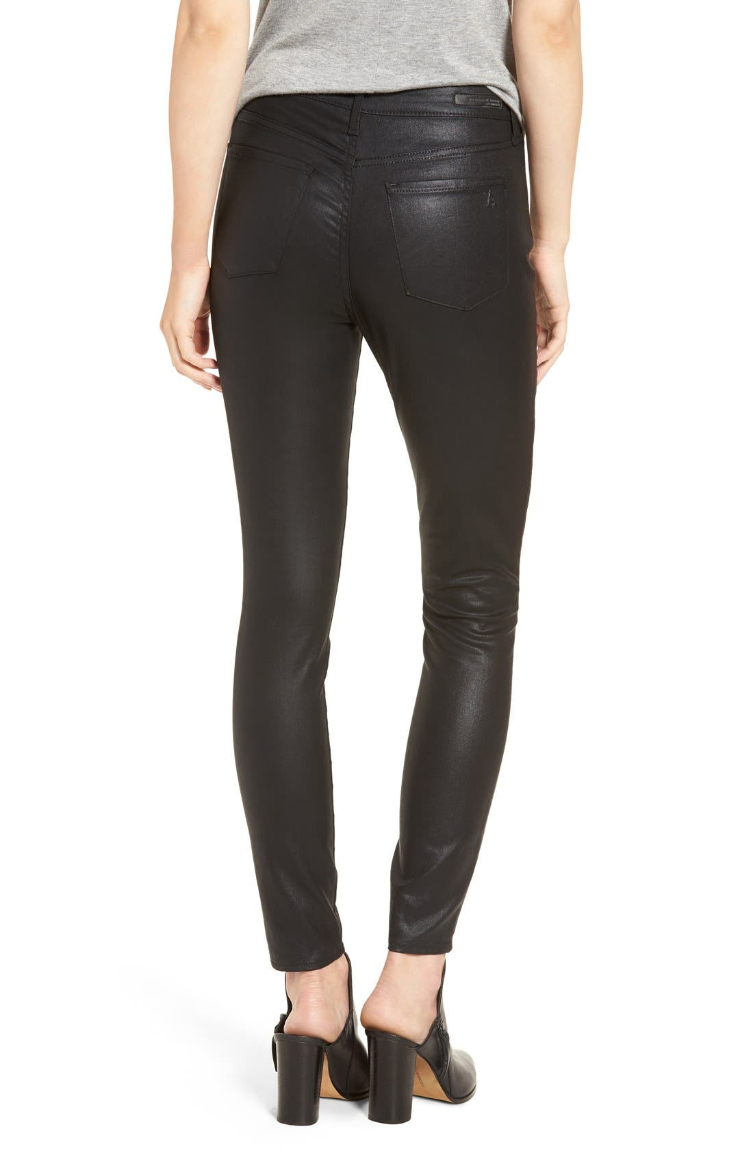 Alternate Image 3  - Articles of Society 'Hailey' High Rise Coated Skinny Jeans