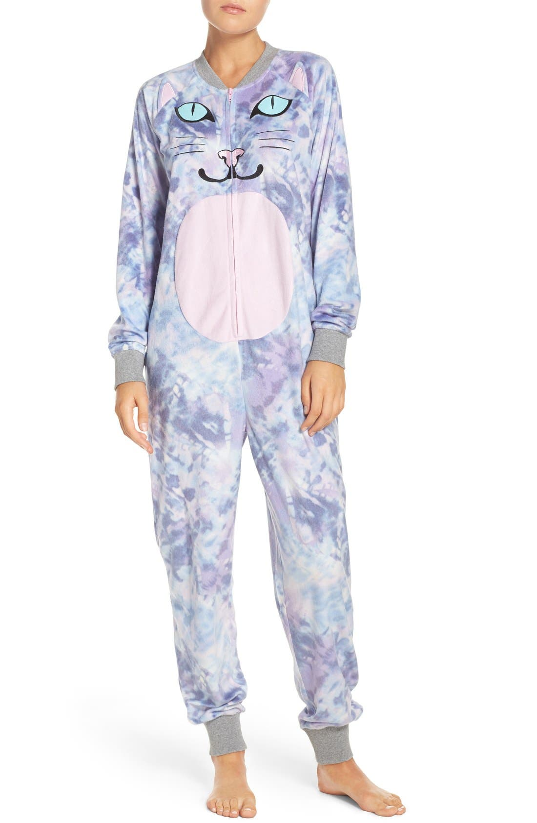 Alternate Image 1 Selected - COZY ZOE Critter One-Piece Pajamas