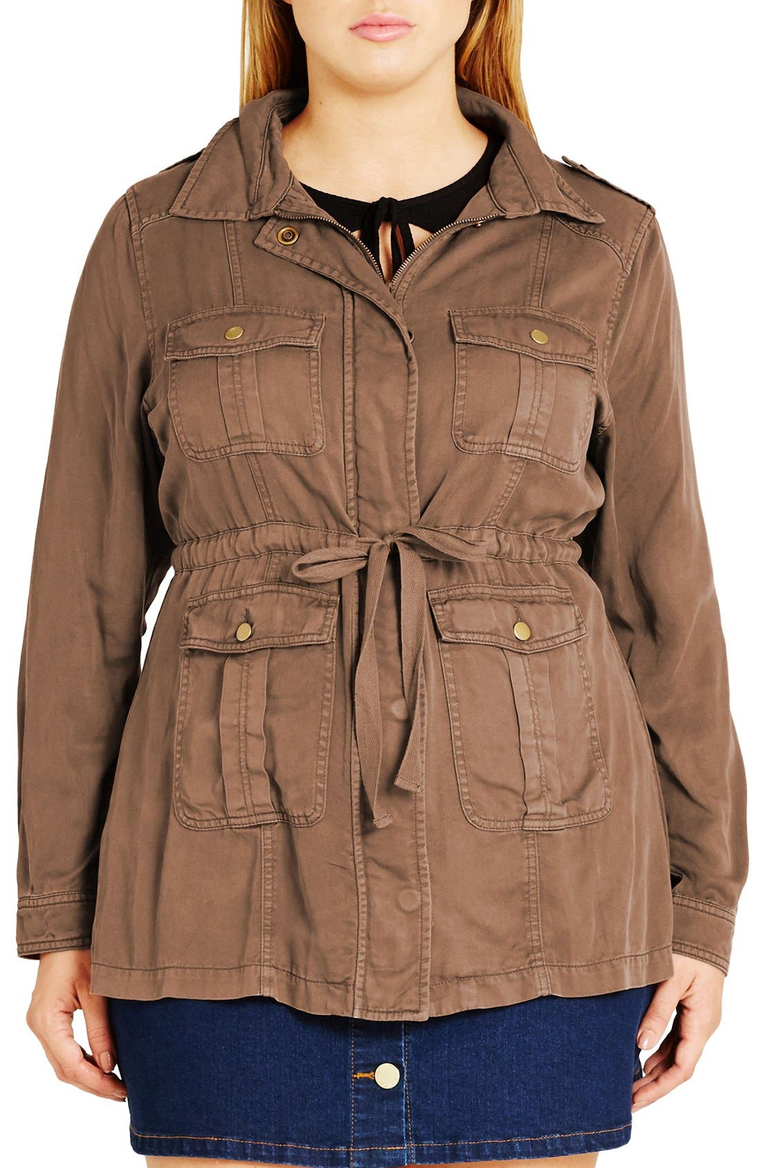 City Chic 'Adventure' Utility Jacket (Plus Size)