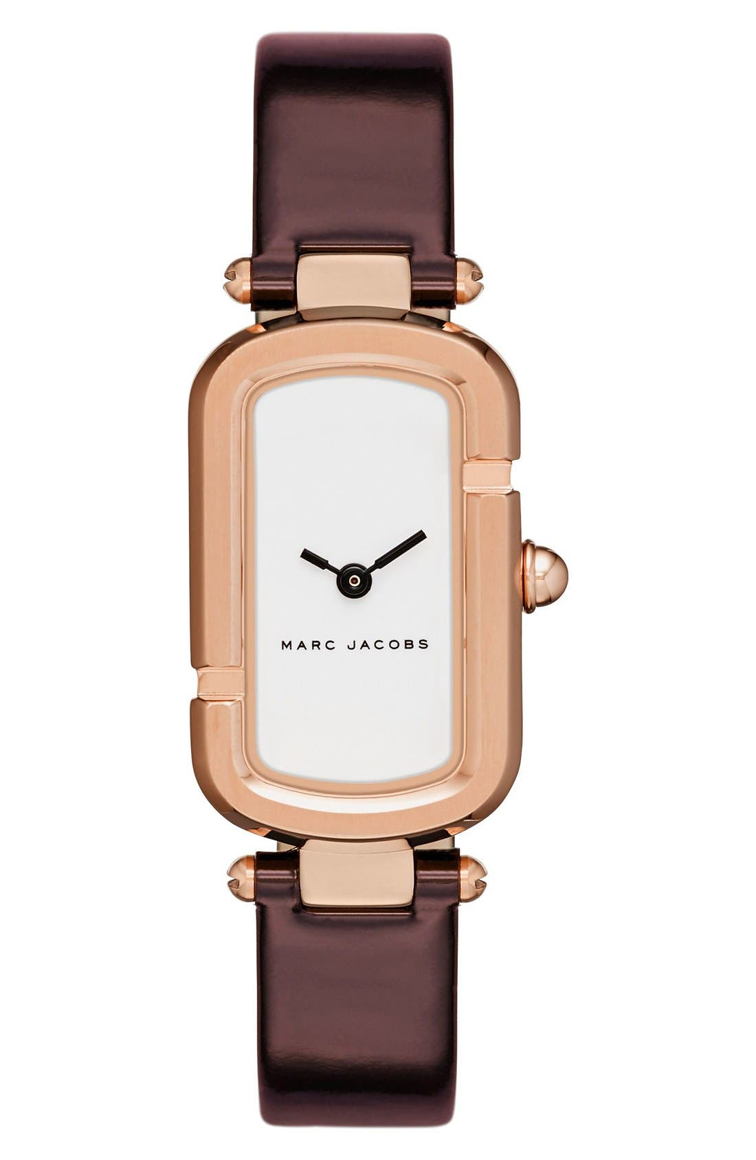 Main Image - MARC JACOBS 'The Jacobs' Leather Strap Watch, 30mm