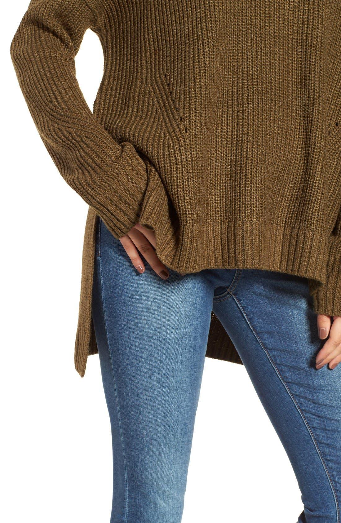 Alternate Image 4  - BP. Mock Neck Shaker Stitch Pullover