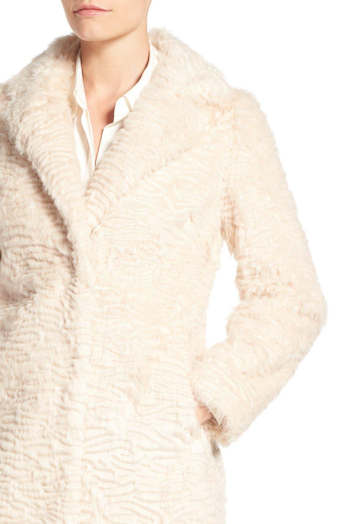 Alternate Image 5  - Eliza J Faux Persian Lamb Coat (Regular & Petite)