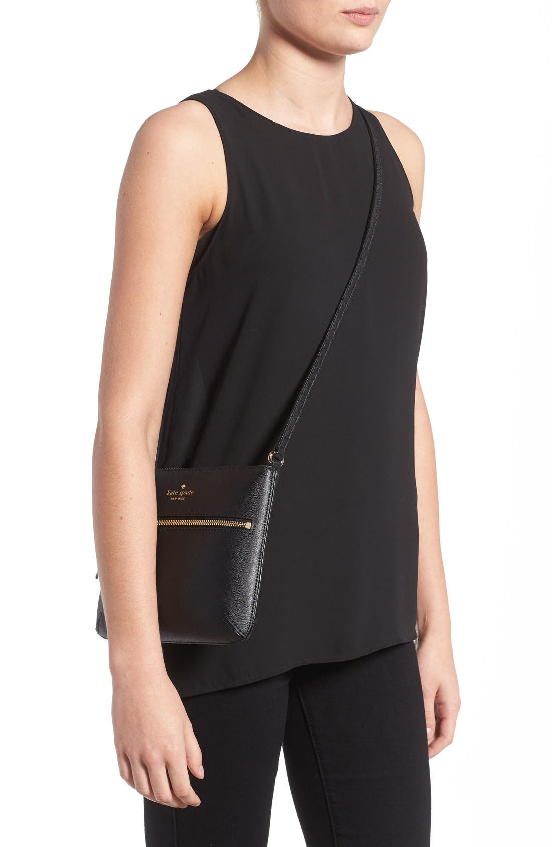 Alternate Image 2  - kate spade new york 'tenley' saffiano leather crossbody bag