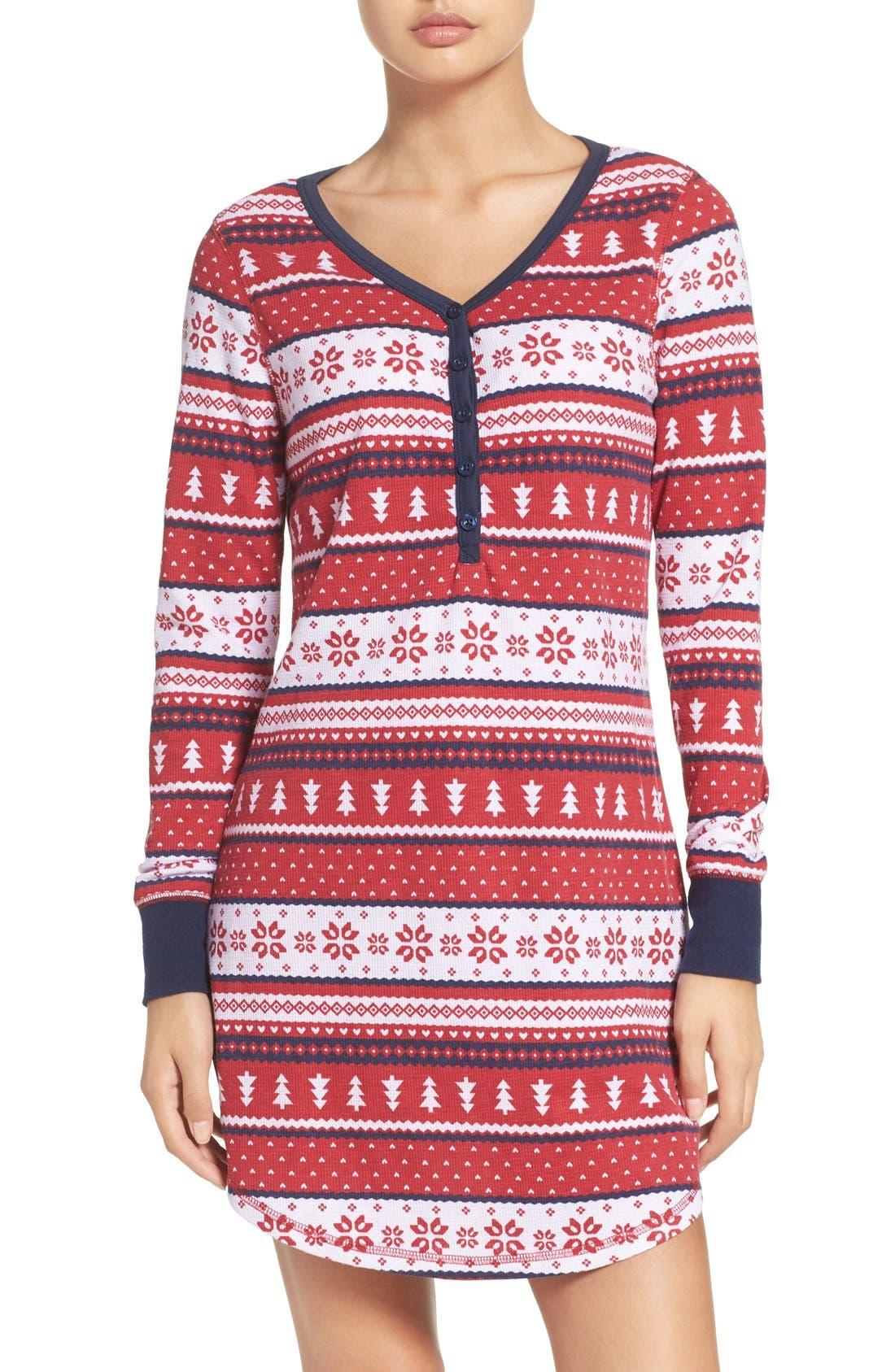 Alternate Image 1 Selected - Nordstrom Lingerie Sleepyhead Thermal Nightshirt