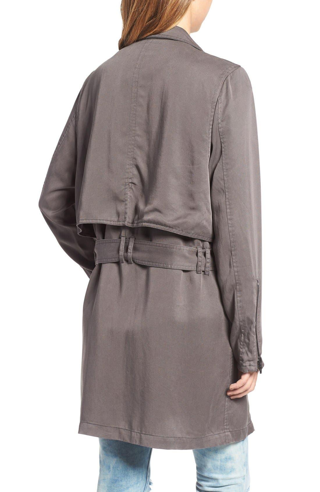 Alternate Image 2  - BLANKNYC Drapey Trench Coat