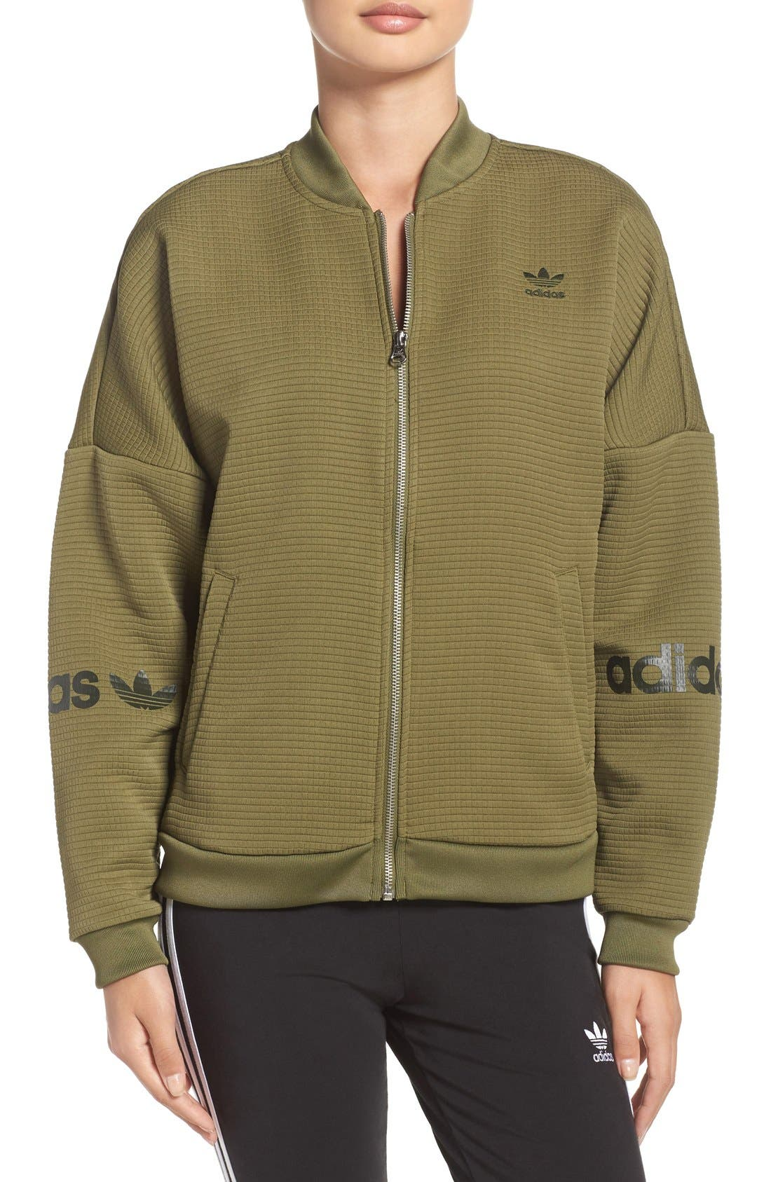 Alternate Image 1 Selected - adidas Originals 3-Stripes Bomber Jacket