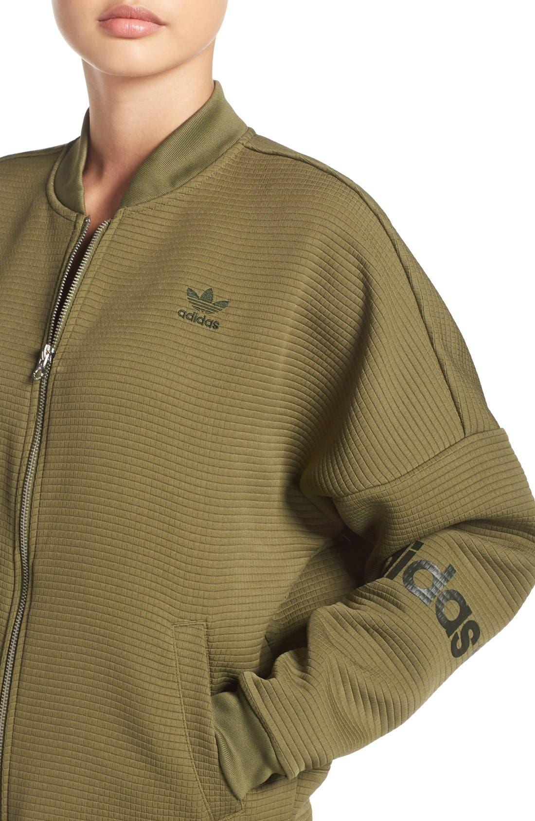 Alternate Image 4  - adidas Originals 3-Stripes Bomber Jacket