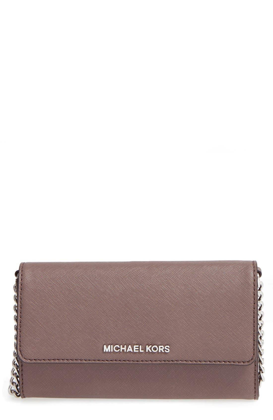 Main Image - MICHAEL Michael Kors 'Large Jet Set' Saffiano Leather Crossbody Bag