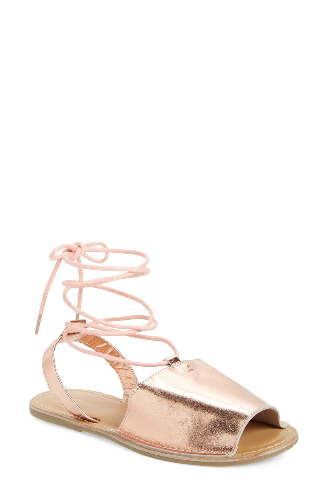 Alternate Image 1 Selected - Topshop 'Holly' Lace-Up Sandal (Women)