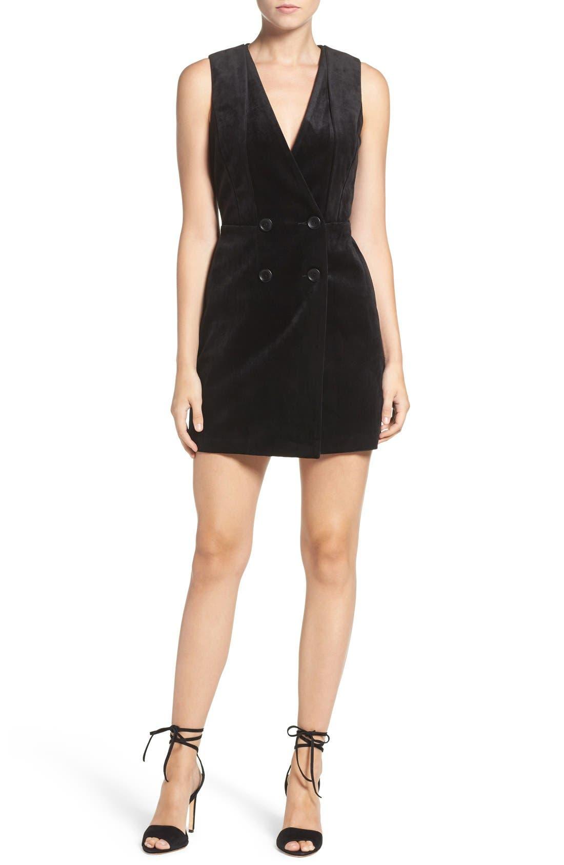 Alternate Image 3  - Greylin Velvet Tuxedo Dress