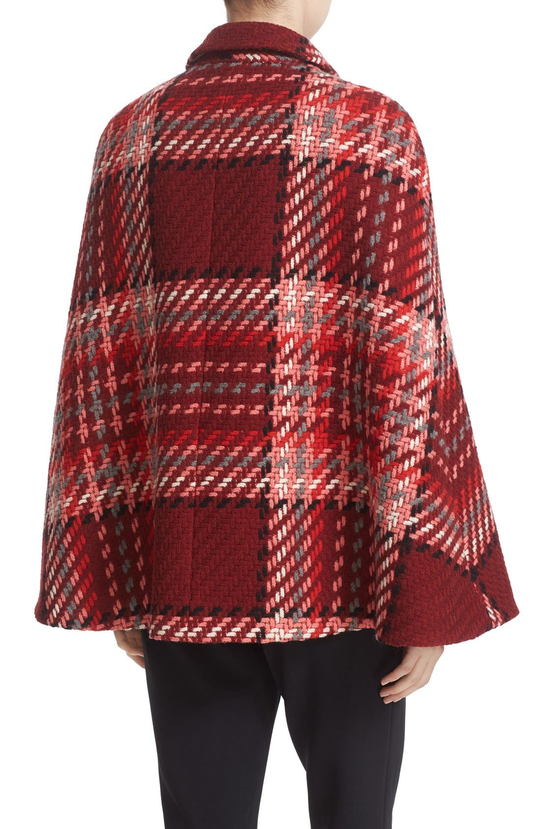 Alternate Image 2  - kate spade new york chunky plaid belted wool blend cape