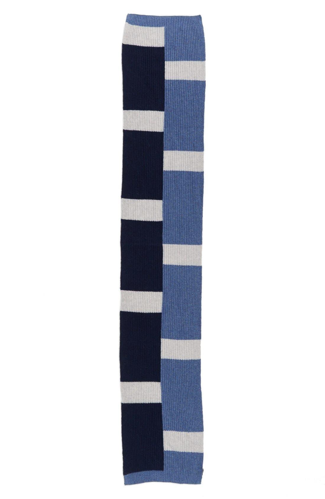 Alternate Image 2  - Halogen® Colorblock Knit Cashmere Scarf