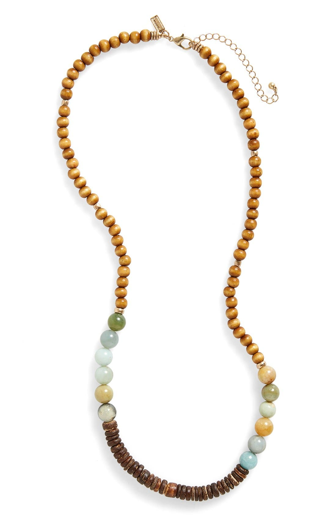 canvas jewelry wood beaded necklace nordstrom