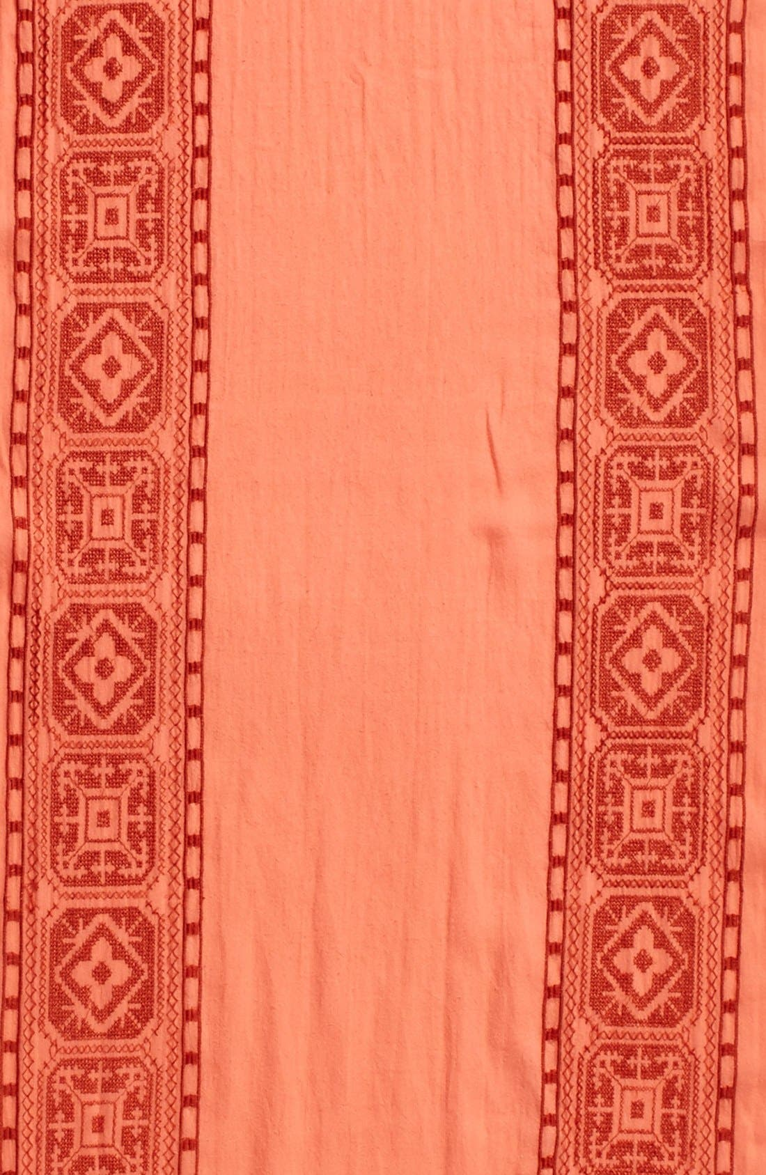Alternate Image 4  - Eileen Fisher Embroidered Organic Cotton Scarf