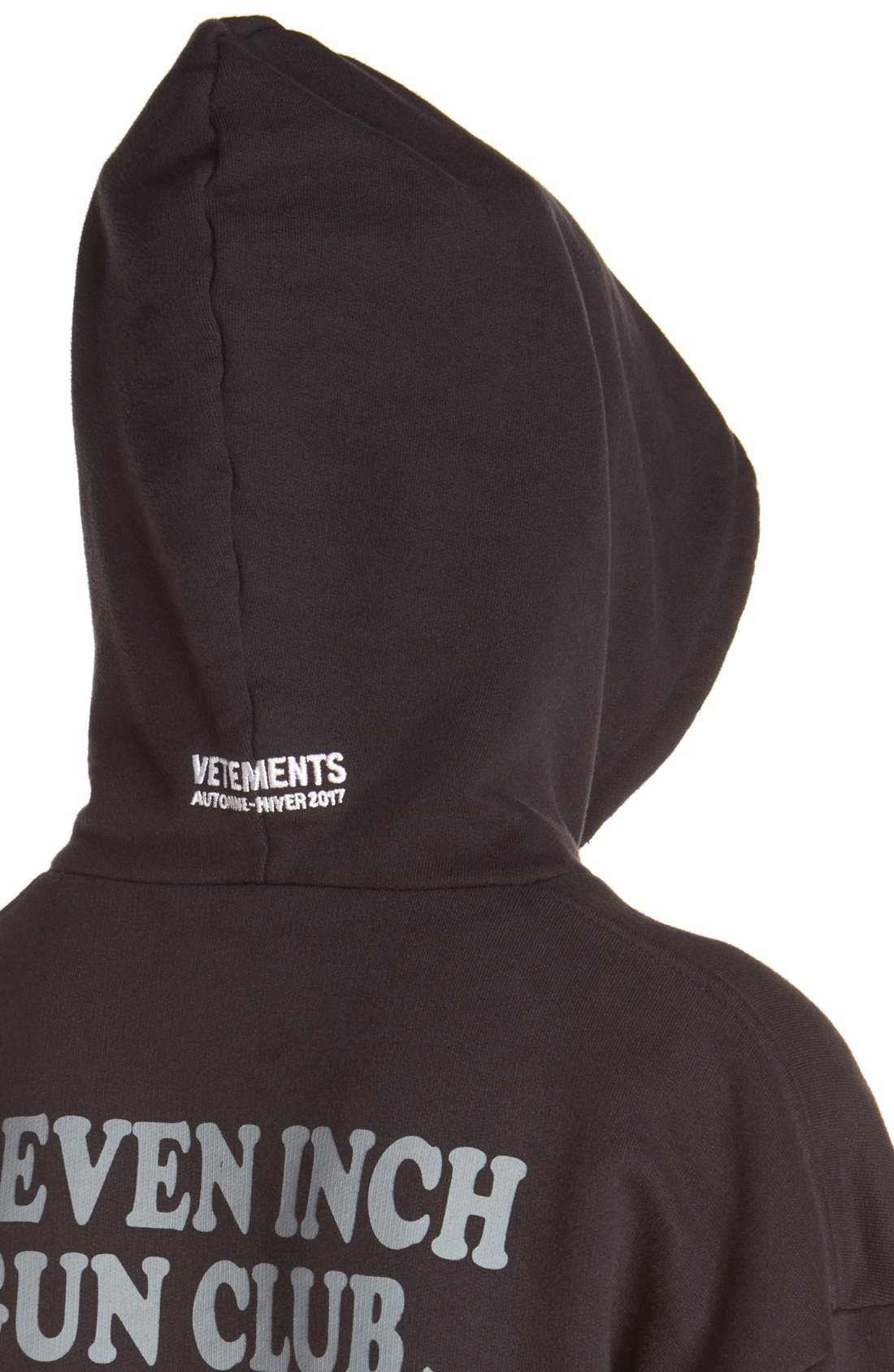Alternate Image 5  - Vetements 'Justin4Ever' Double Sleeve Graphic Hoodie Dress