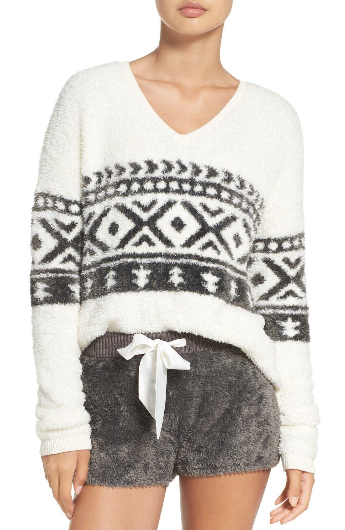 Alternate Image 1 Selected - Make + Model Fuzzy Lounge Sweater