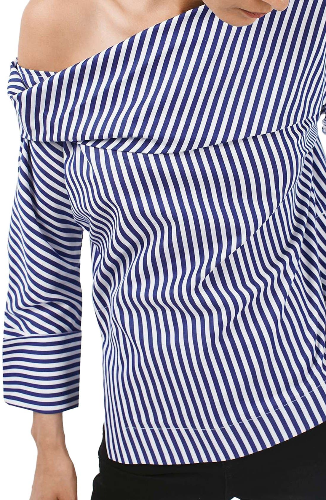 Alternate Image 5  - Topshop Boutique Stripe Twist Top