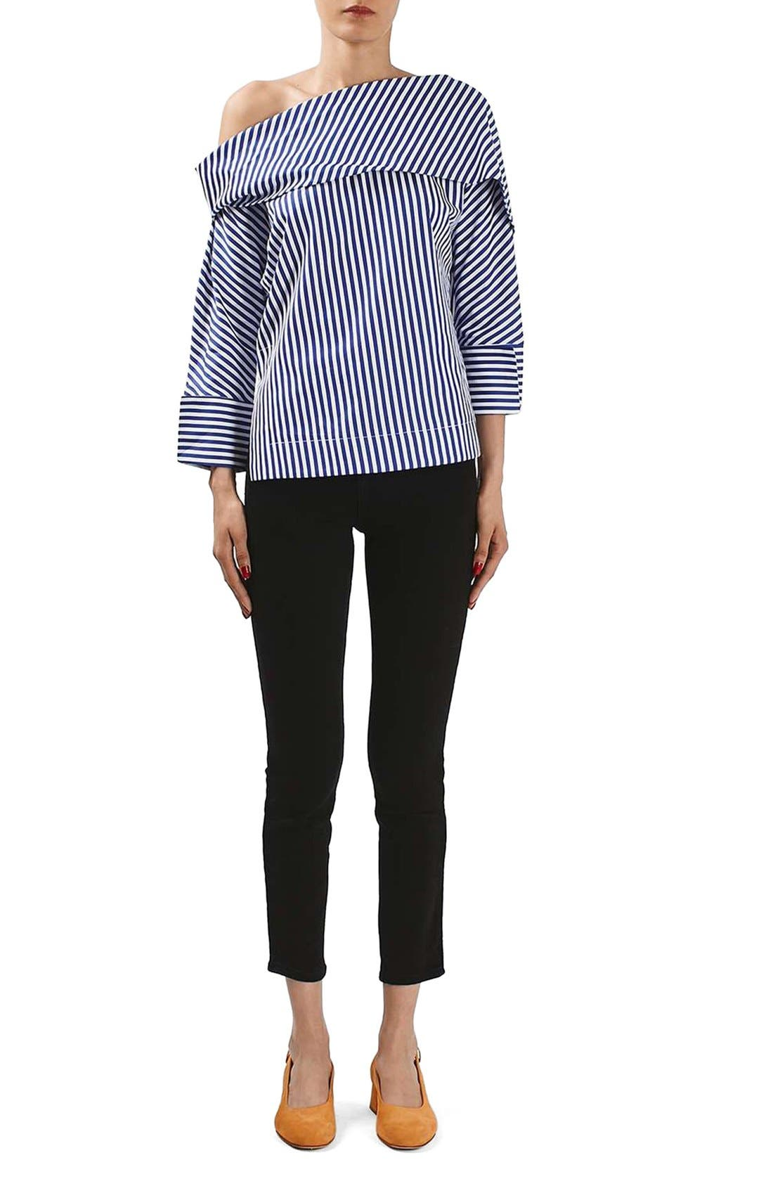 Alternate Image 2  - Topshop Boutique Stripe Twist Top