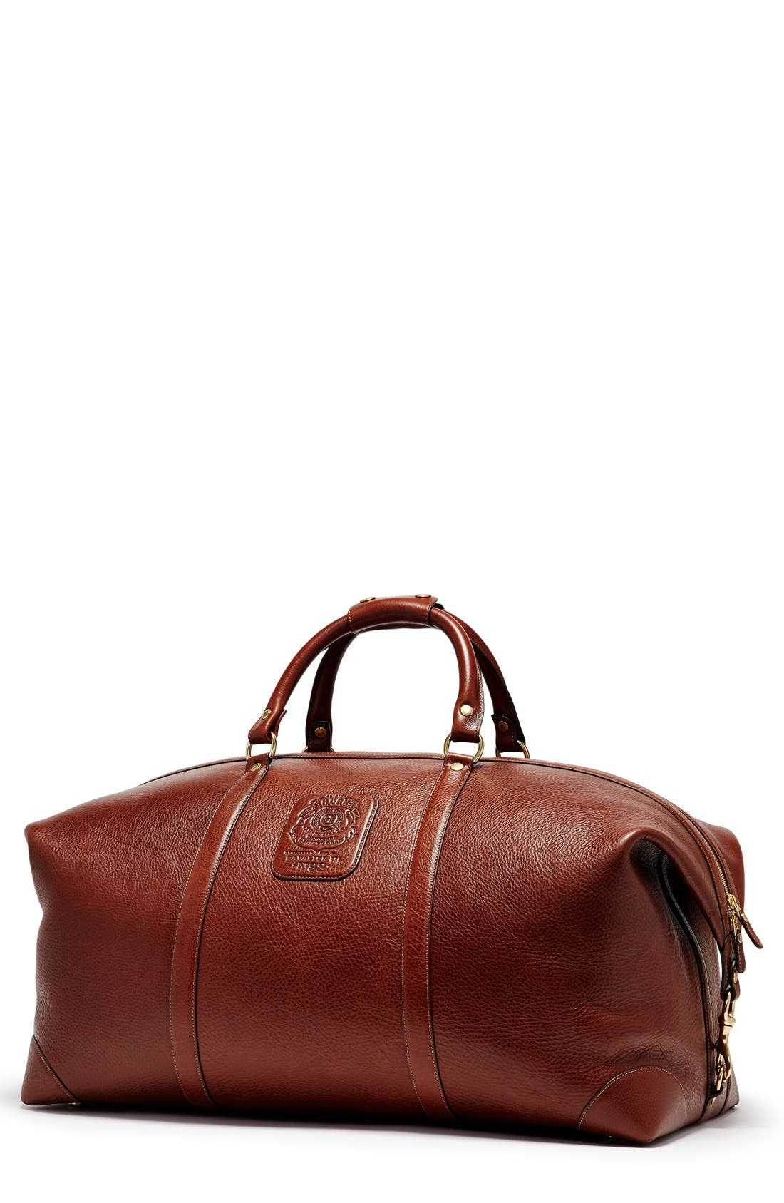 Ghurka 'Cavalier III' Leather Duffel Bag