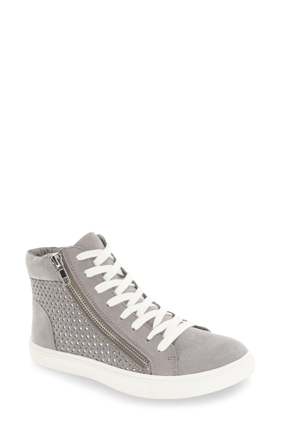 Alternate Image 1 Selected - Steve Madden 'Elyka' Laser Cut High Top Sneaker (Women)