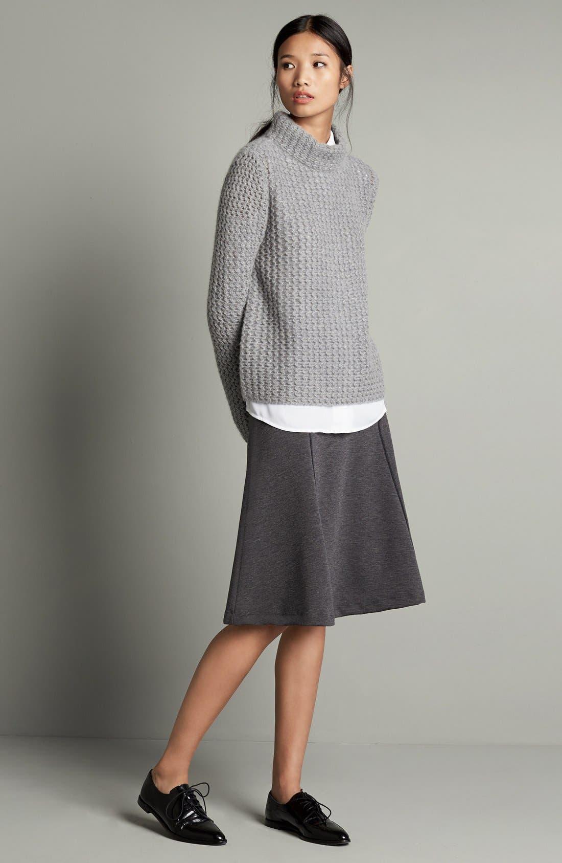 Alternate Image 2  - Halogen® Stitch Detail Cashmere Mock Neck Sweater (Regular & Petite)