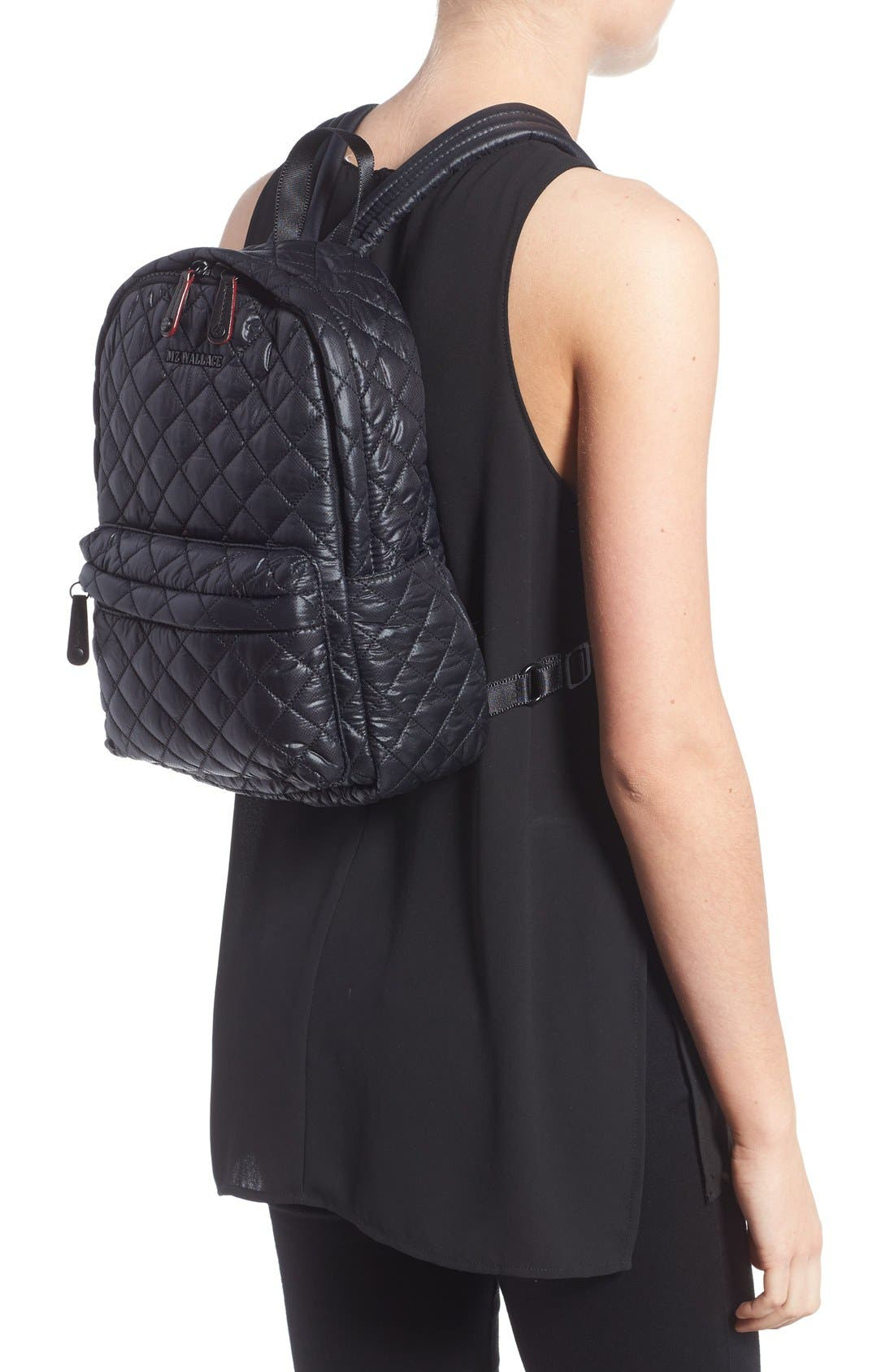 Alternate Image 2  - MZ Wallace 'Small Metro' Quilted Oxford Nylon Backpack