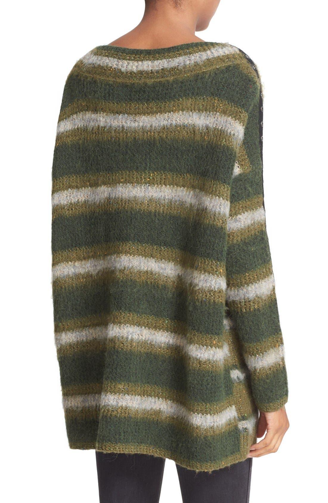Alternate Image 2  - Free People Stripe Tunic Sweater