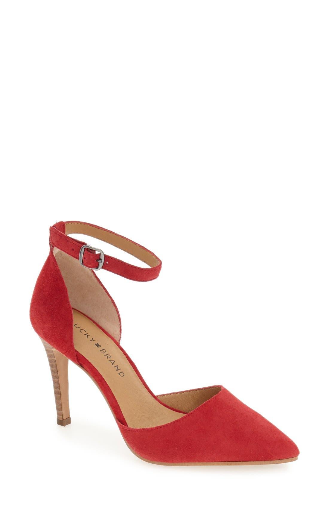 Alternate Image 1 Selected - Lucky Brand 'Tukko' d'Orsay Ankle Strap Pump (Women)
