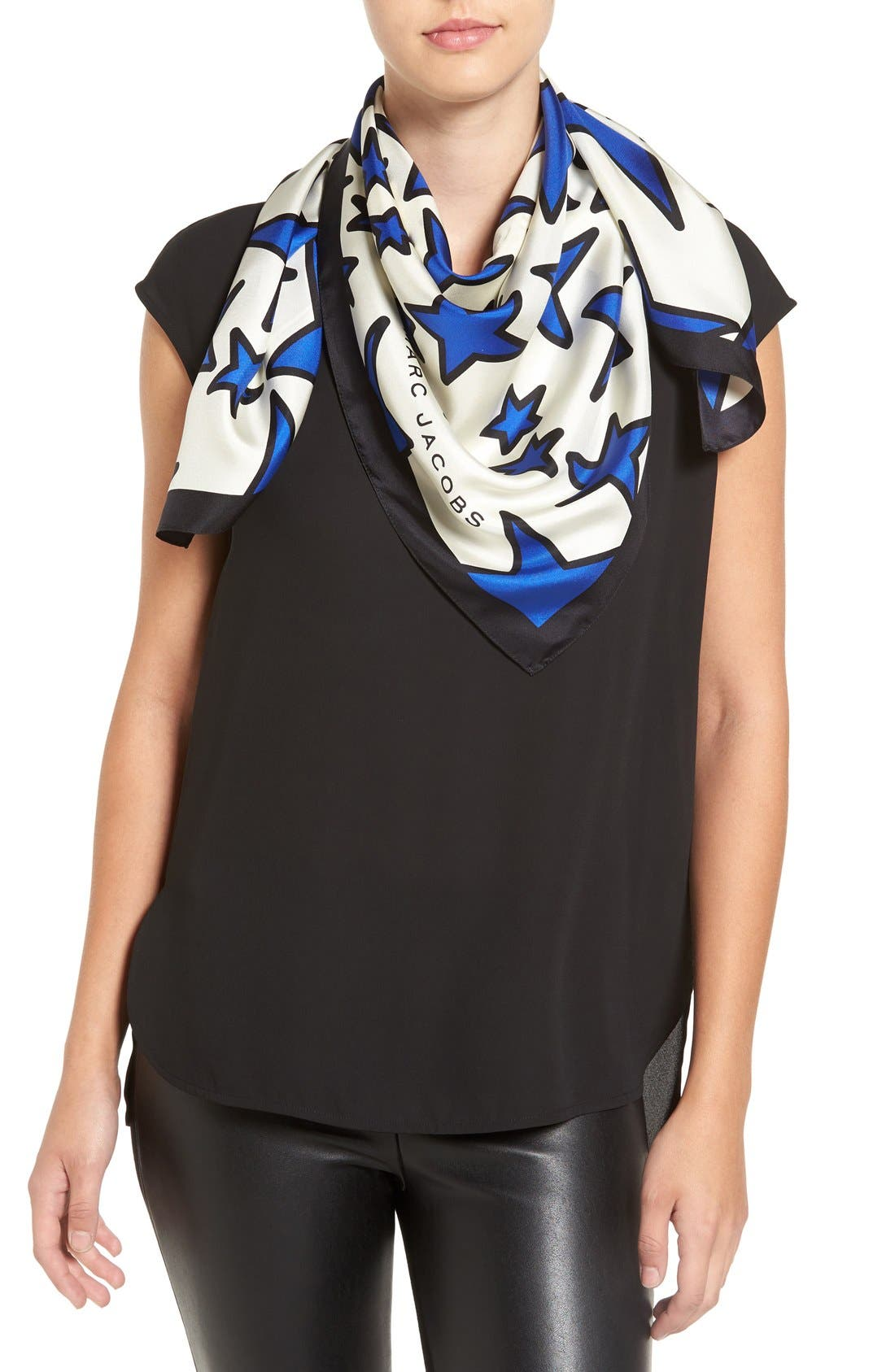 Alternate Image 1 Selected - MARC JACOBS 'Star' Square Silk Scarf