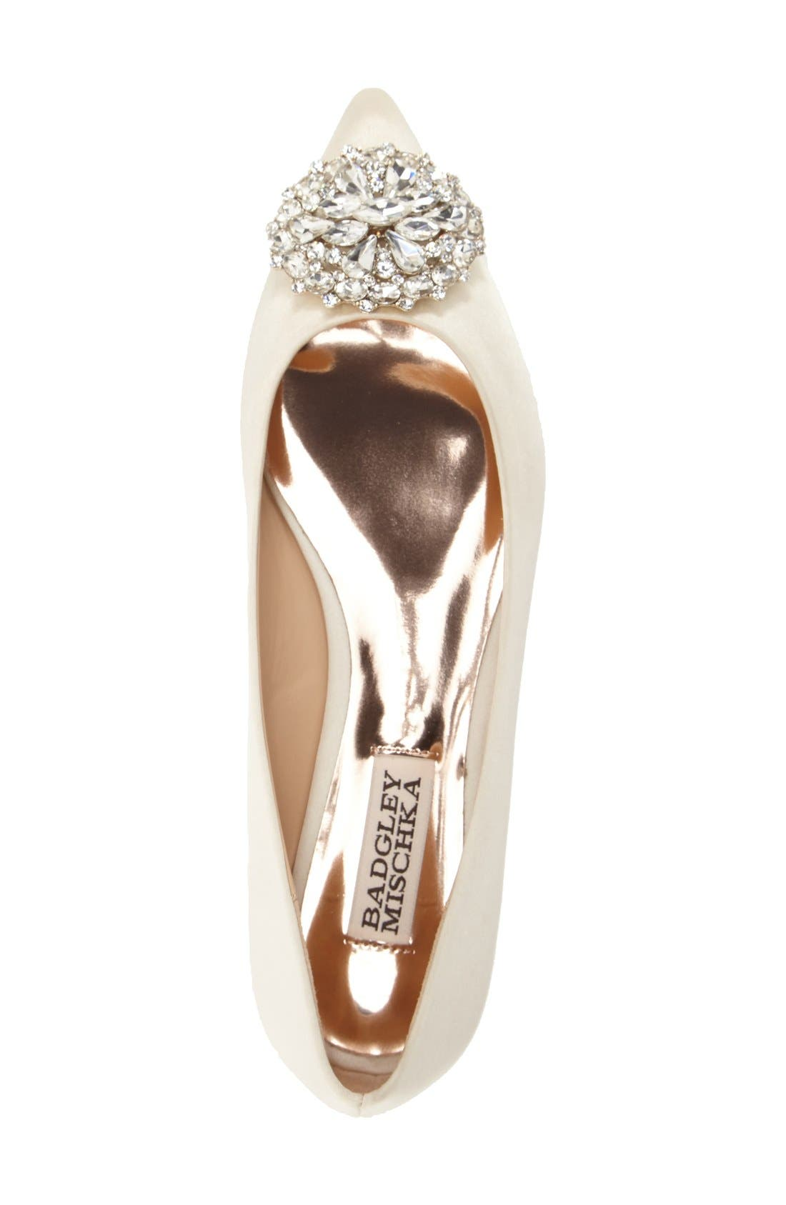 Alternate Image 3  - Badgley Mischka 'Davis' Crystal Embellished Pointy Toe Flat (Women)