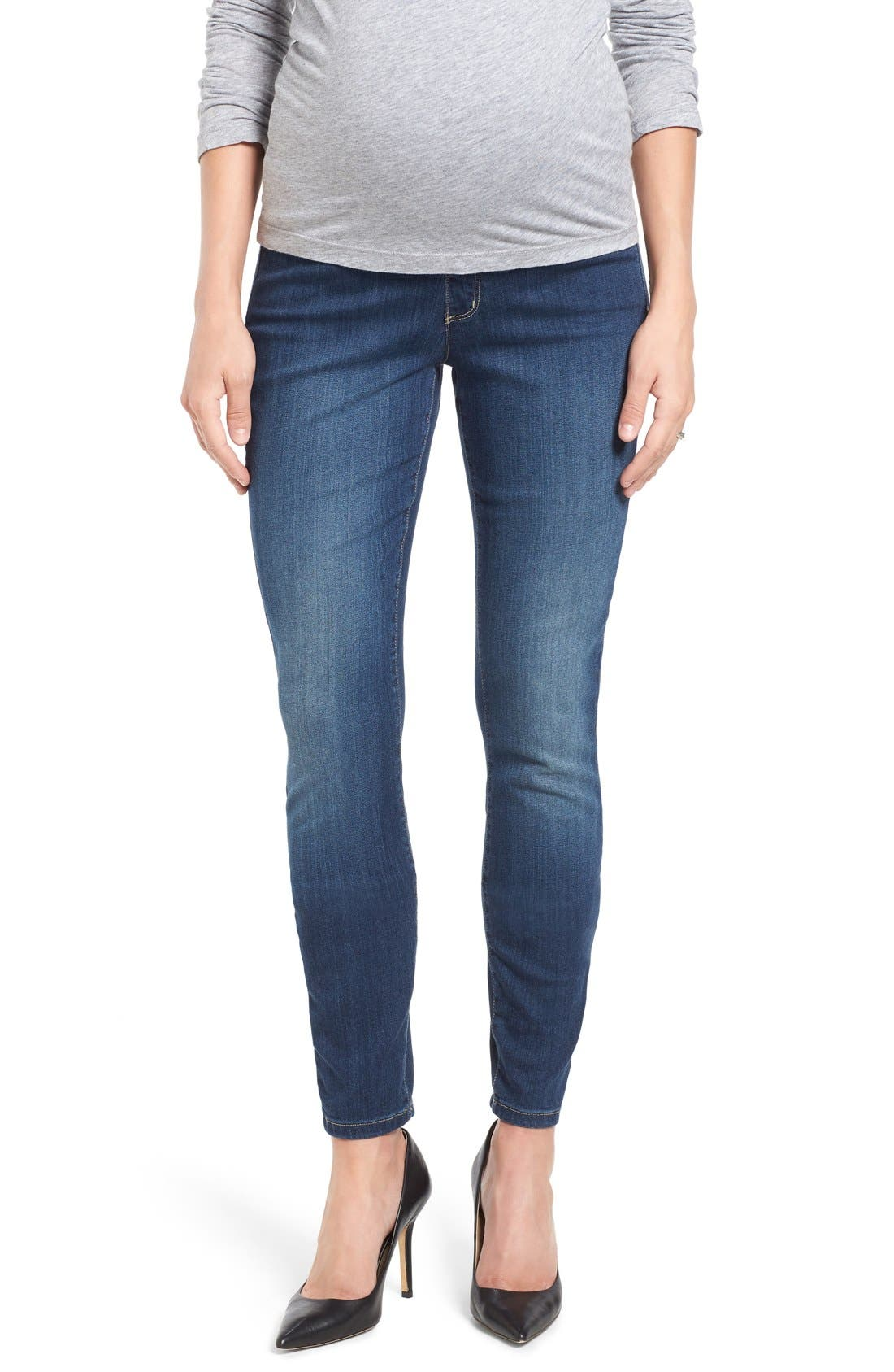 NYDJ 'Ami' Stretch Skinny Maternity Jeans (Big Sur) (Online Only)