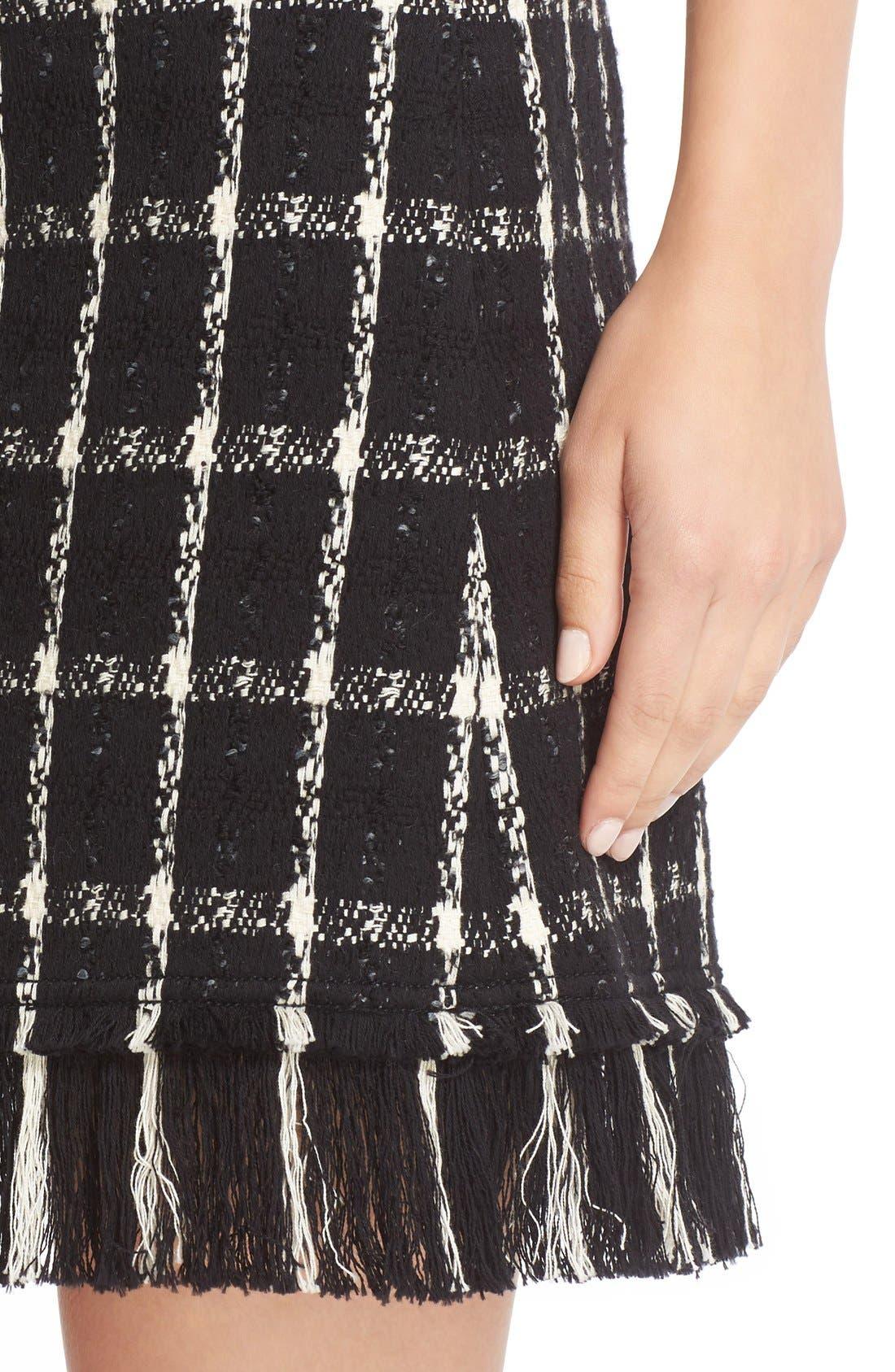 Alternate Image 4  - Tory Burch 'Marisol' Fringe Hem Plaid Tweed Miniskirt