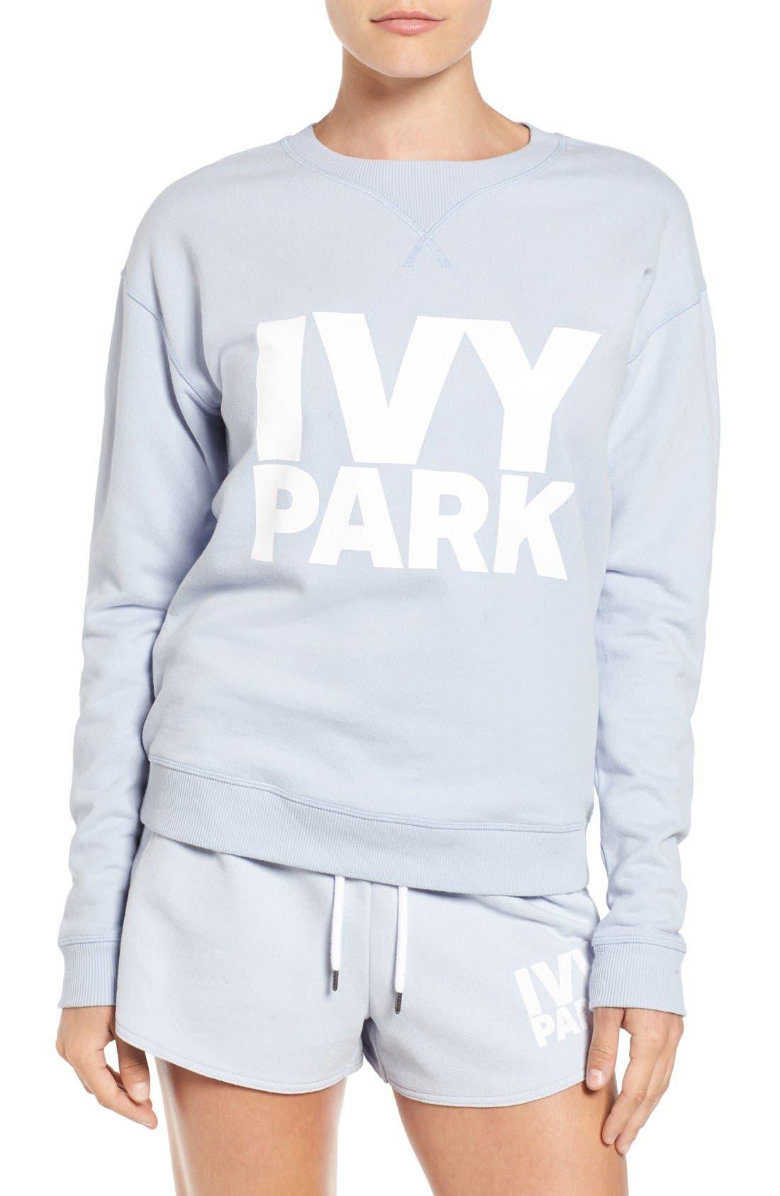 Main Image - IVY PARK® Logo Peached Sweatshirt