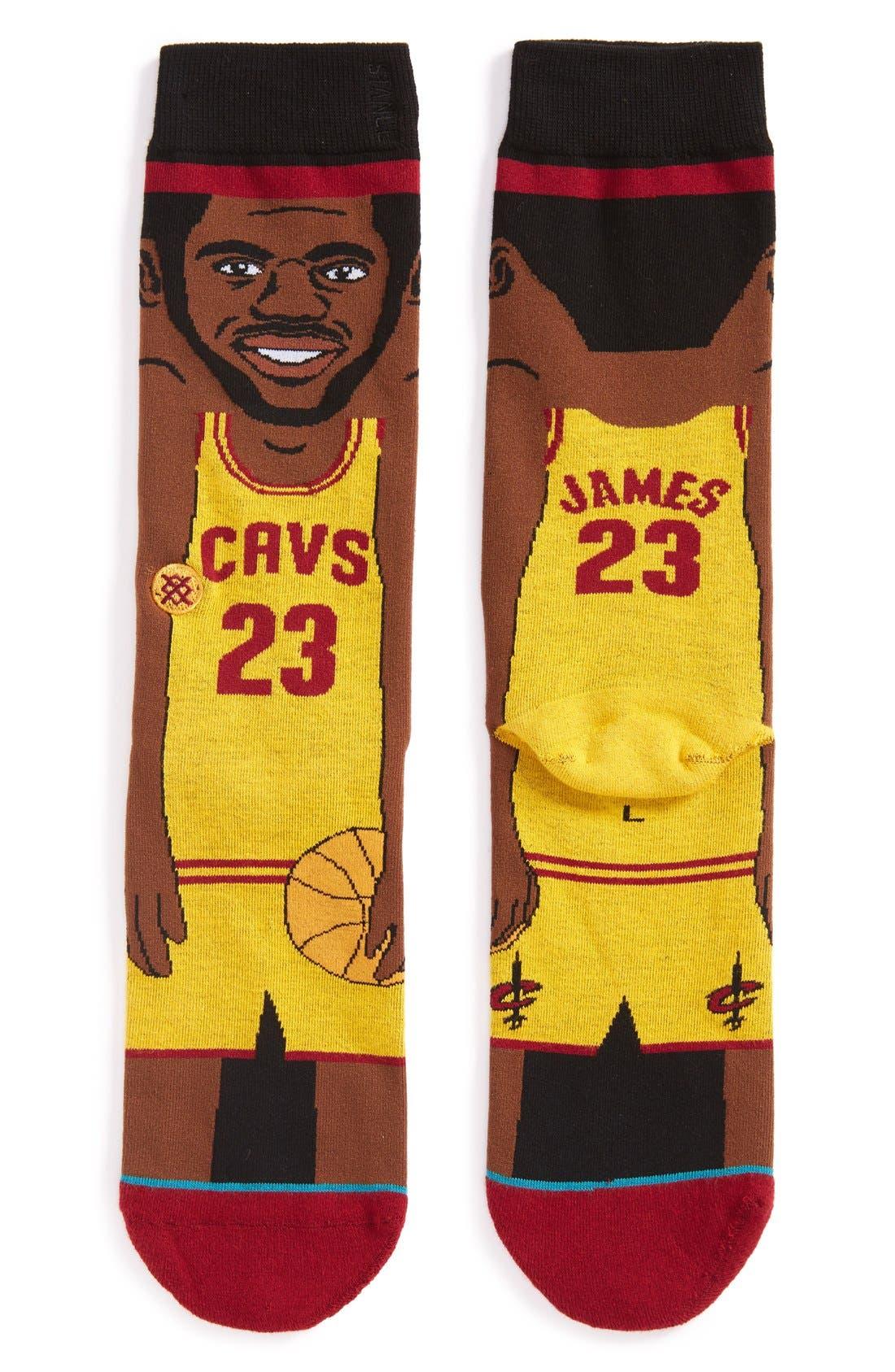 Alternate Image 1 Selected - Stance 'NBA Legends - LeBron James' Crew Socks