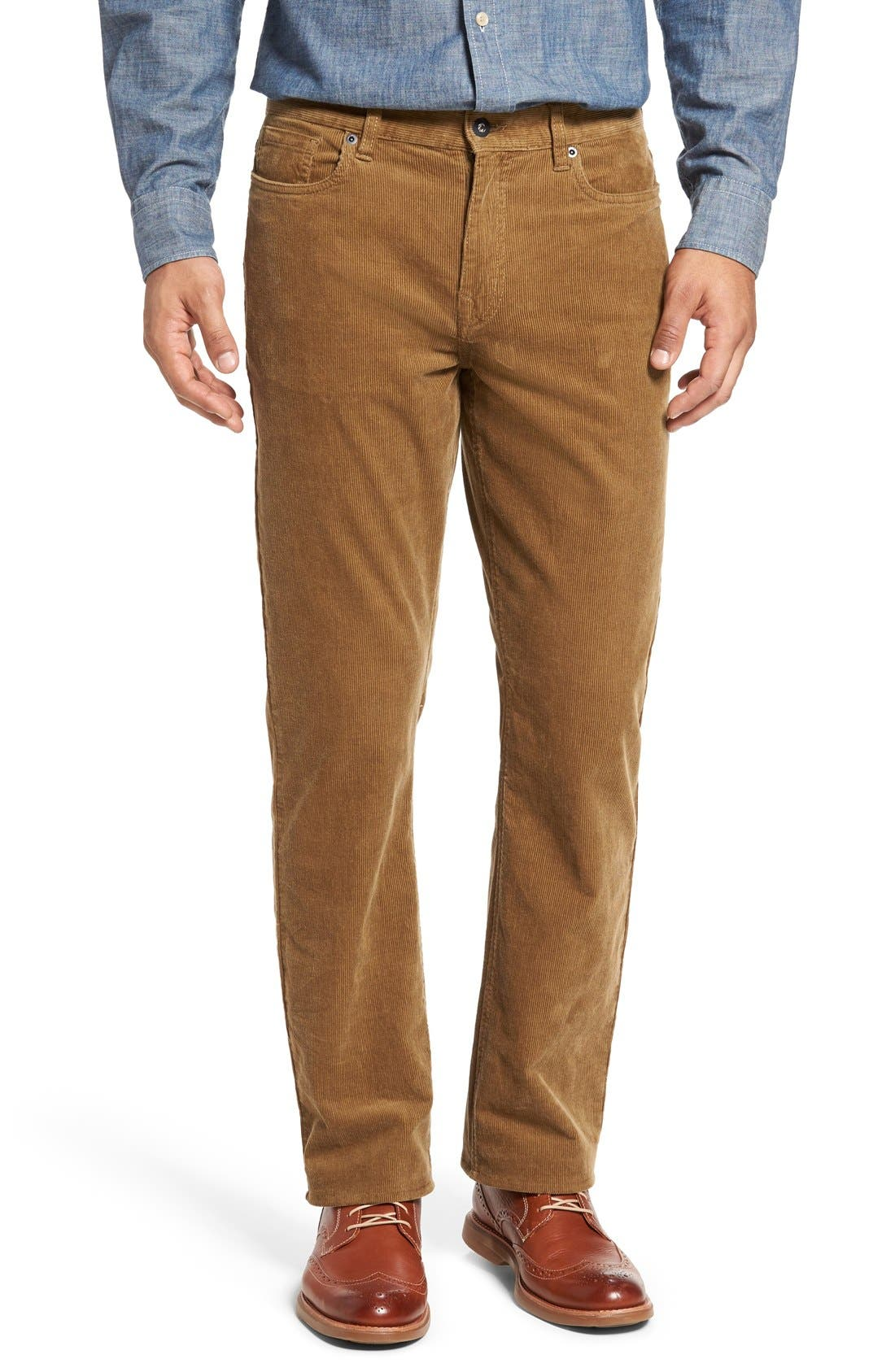 Cutter & Buck 'Greenwood' Stretch Corduroy Pants (Big & Tall)