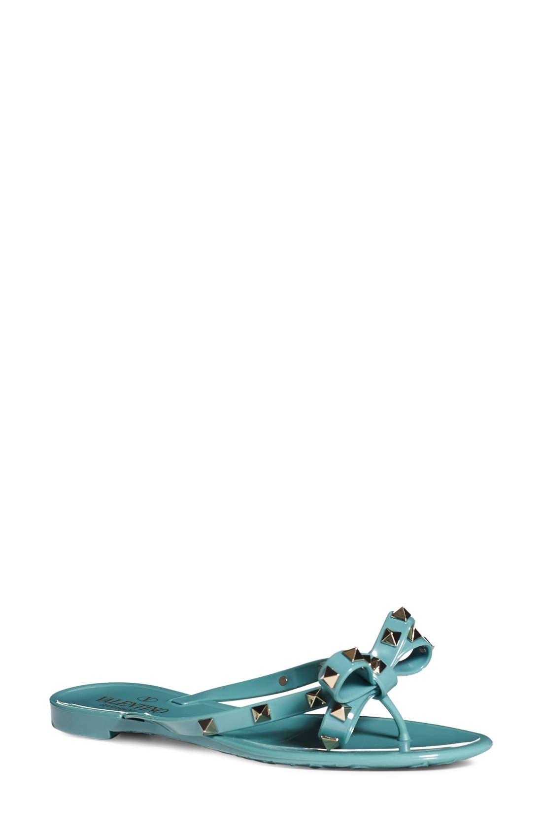 Valentino 'Rockstud' Flip Flop (Women)