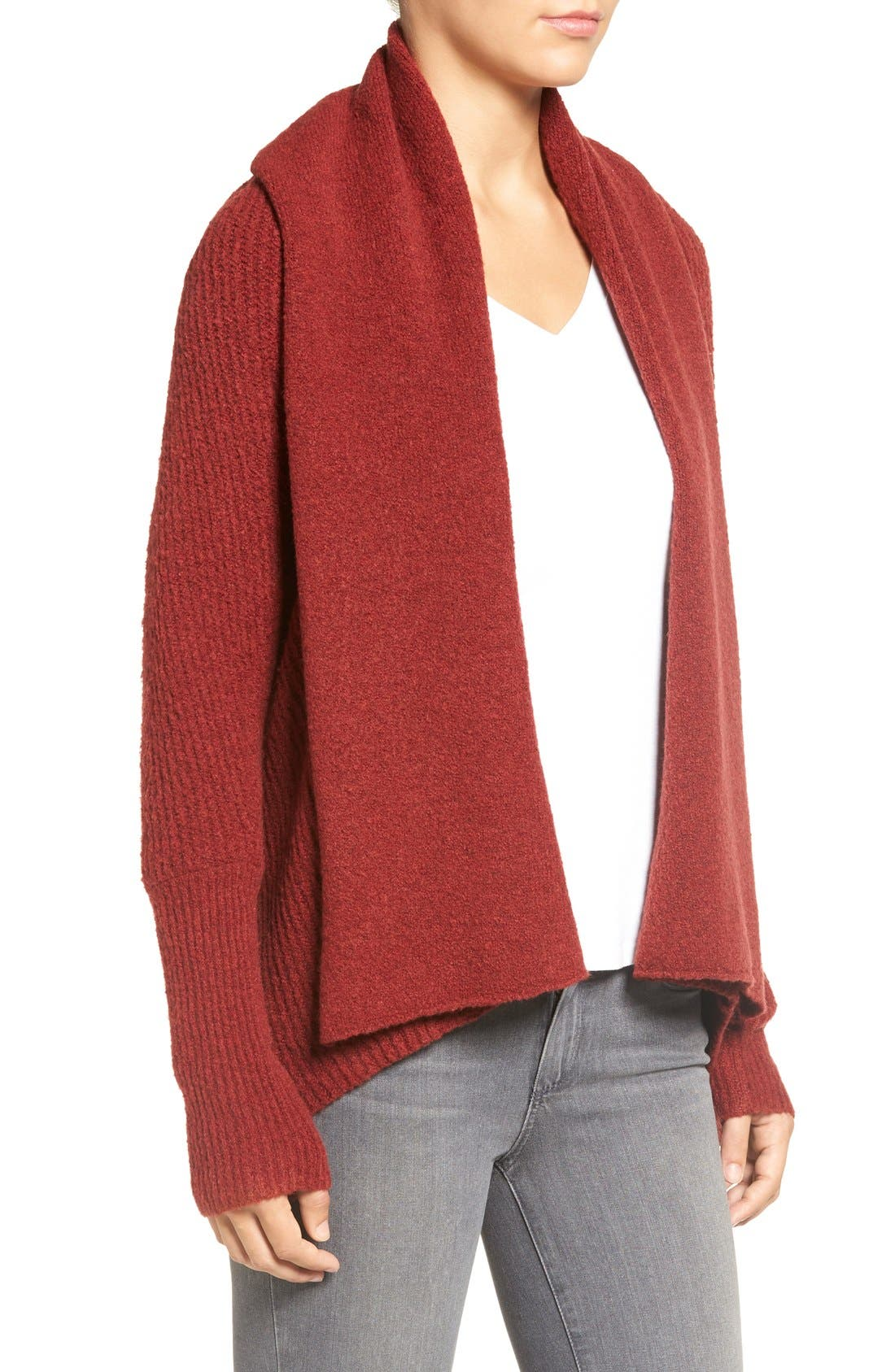 Alternate Image 3  - Chelsea28 Dolman Sleeve Open Front Cardigan