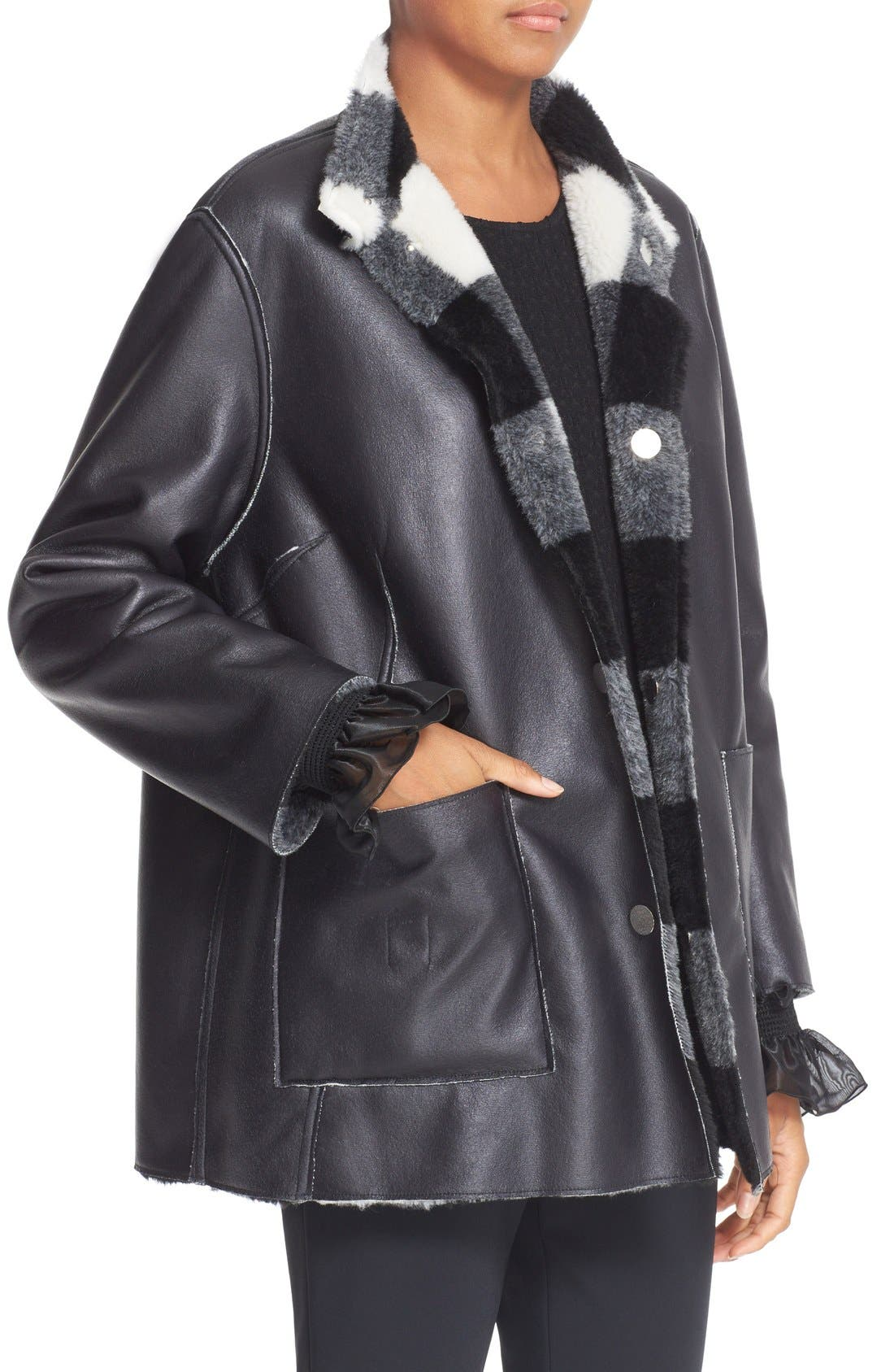 Alternate Image 5  - Opening Ceremony 'Culver' Reversible Faux Fur Coat