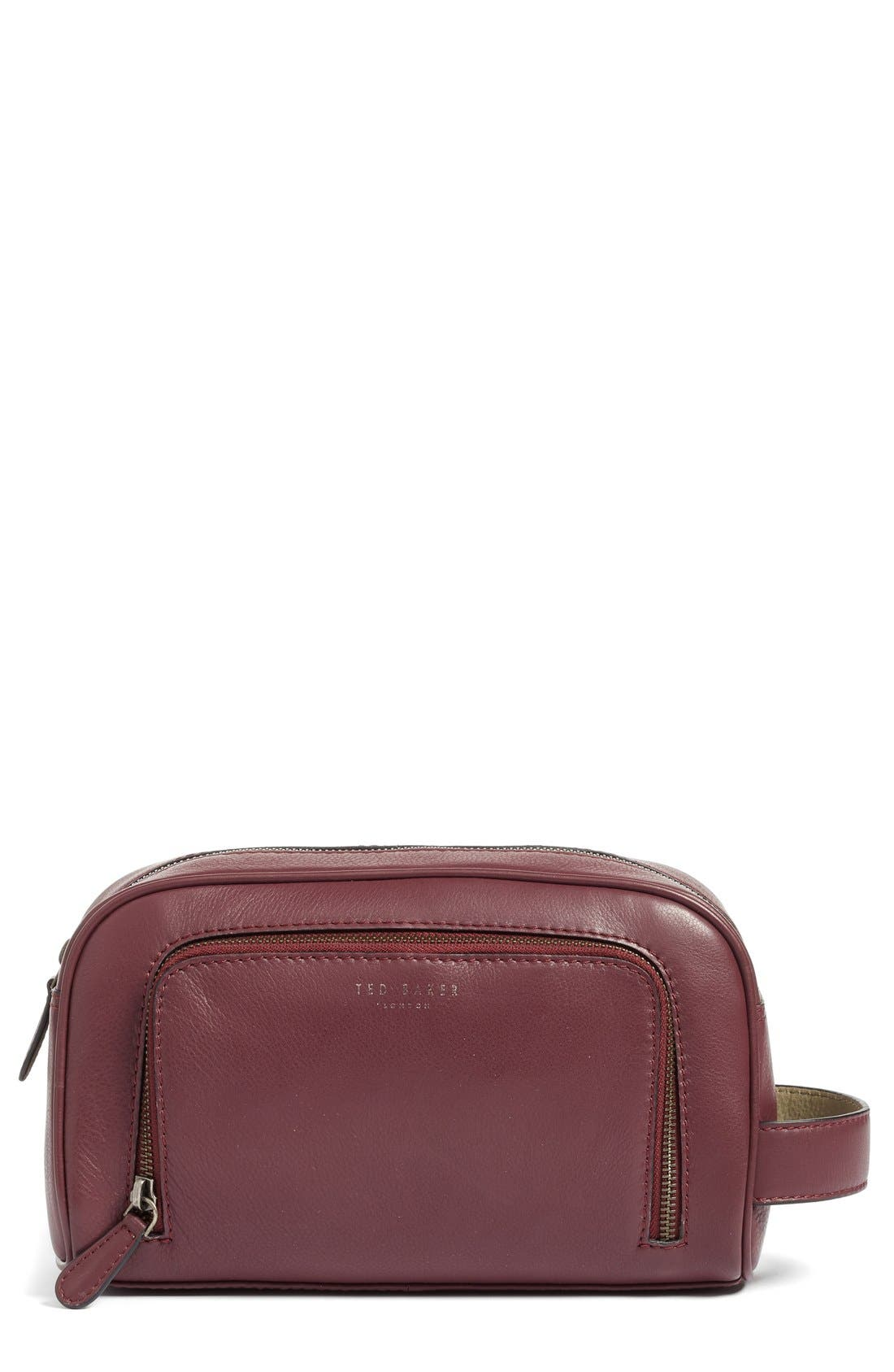 Ted Baker London 'Footsy' Leather Travel Kit