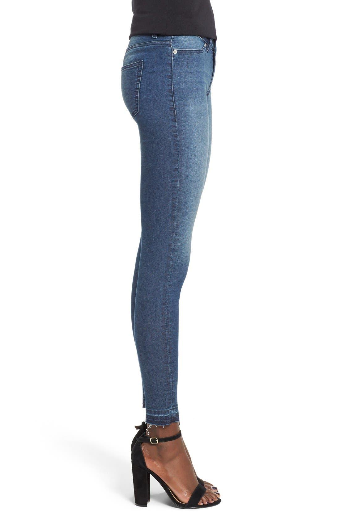 Alternate Image 3  - Cheap Monday Released Hem Skinny Jeans (Fall Blue)