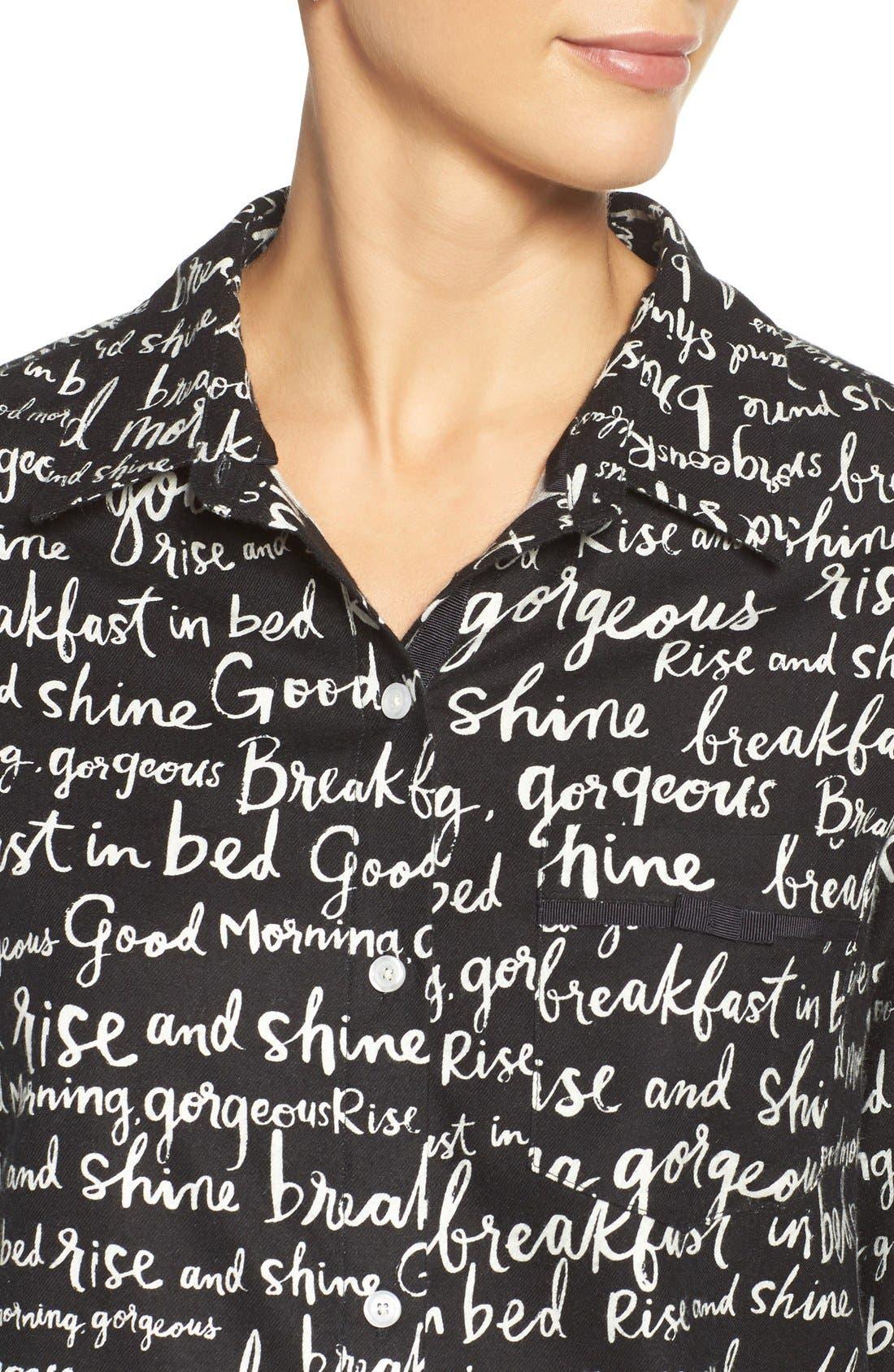 Alternate Image 5  - kate spade new york flannel pajamas