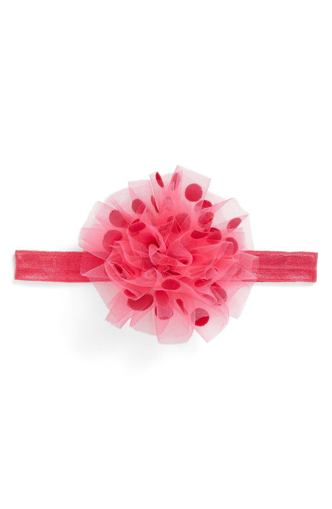 PLH Bows & Laces Polka Dot Headband (Baby Girls)