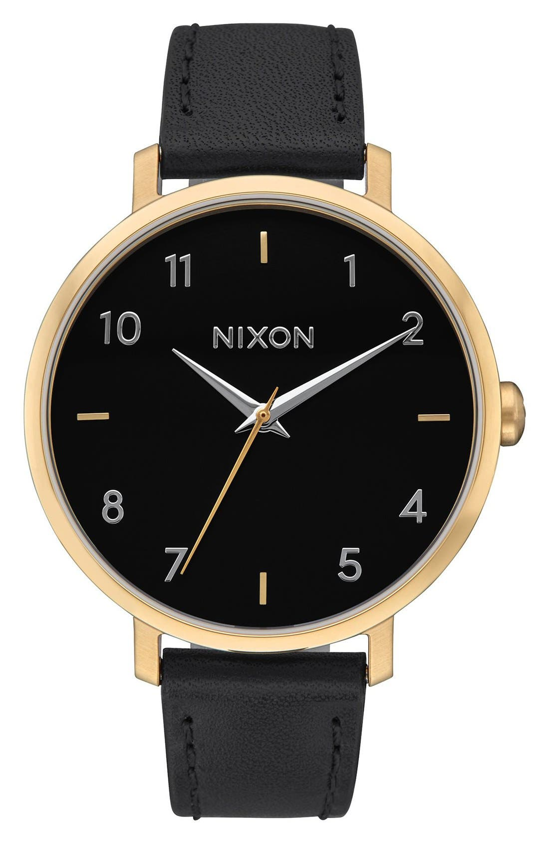 Alternate Image 1 Selected - Nixon The Arrow Leather Strap Watch, 38mm