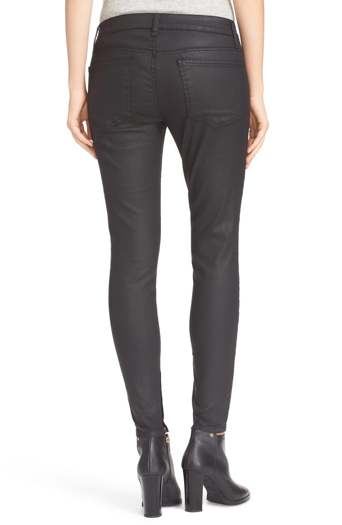 Alternate Image 3  - Joie Ankle Zip Super Skinny Jeans (Black Diamond)