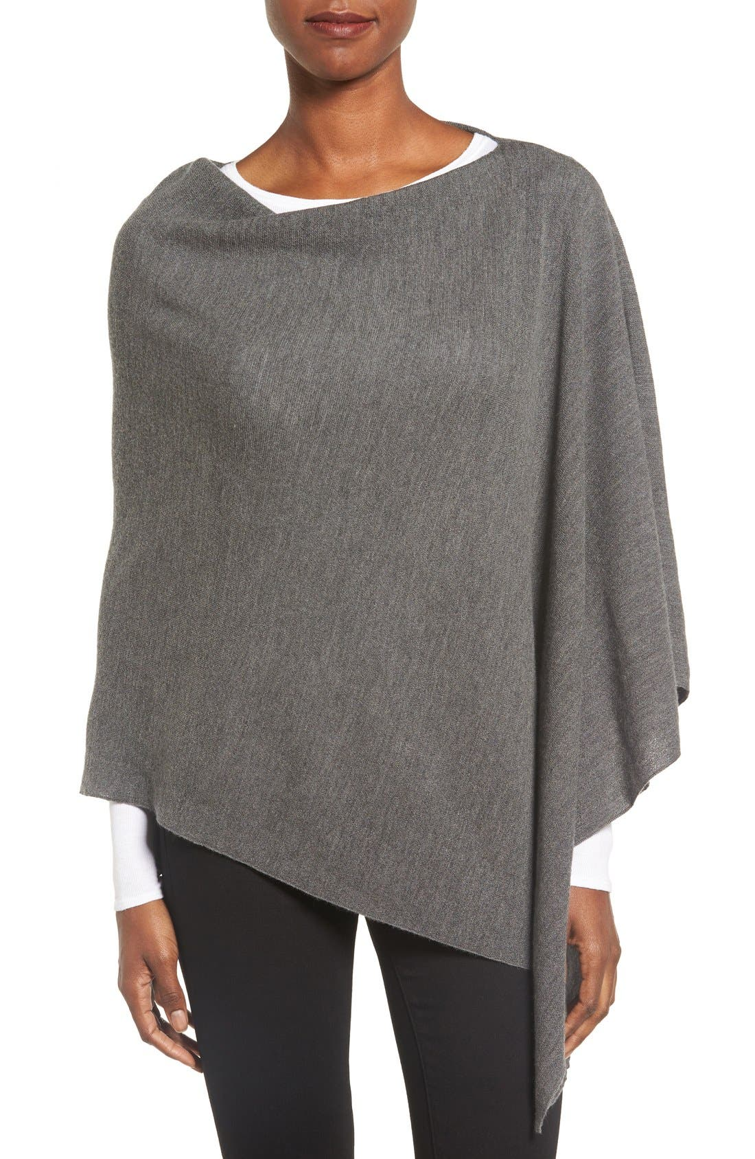 Eileen Fisher Fine Merino Wool Links Poncho (Regular & Petite)