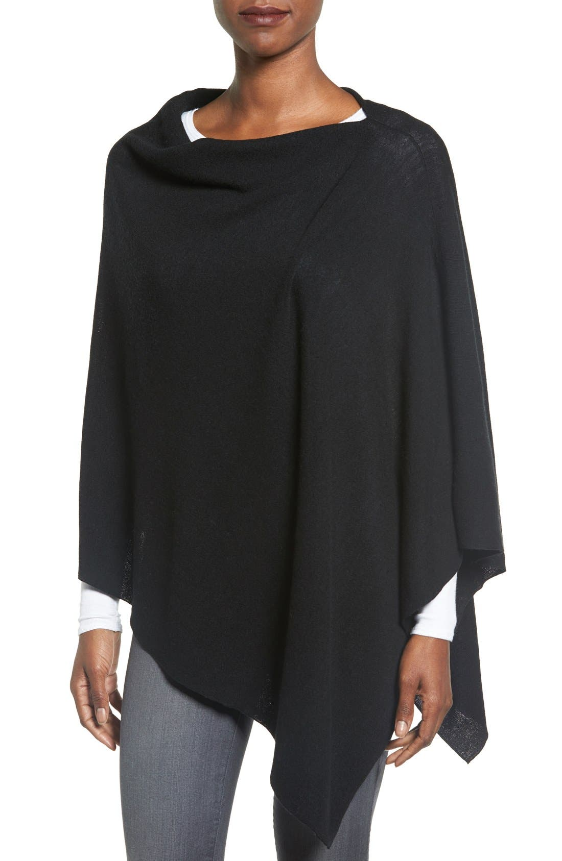 Eileen Fisher Fine Merino Wool Links Poncho (Regular & Petite)