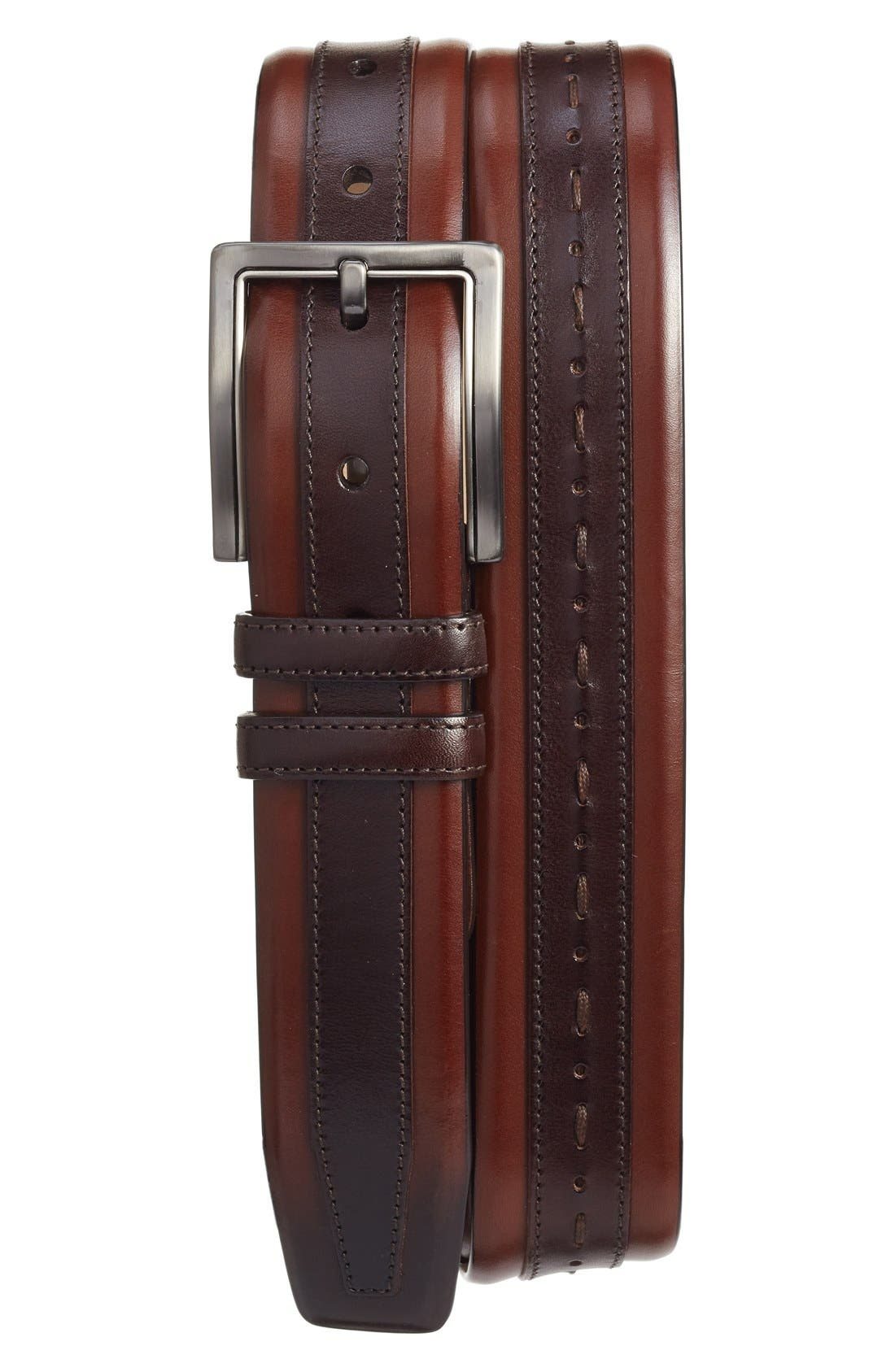 MEZLAN Ascot Leather Belt