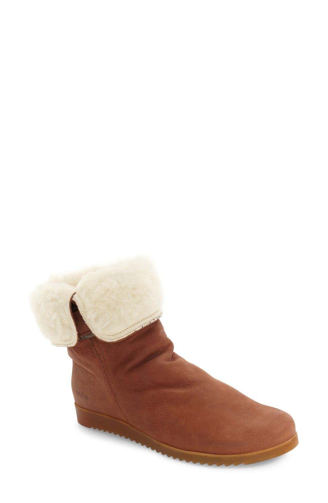 Arche 'Baiwa' Faux Shearling Cuffed Bootie (Women)