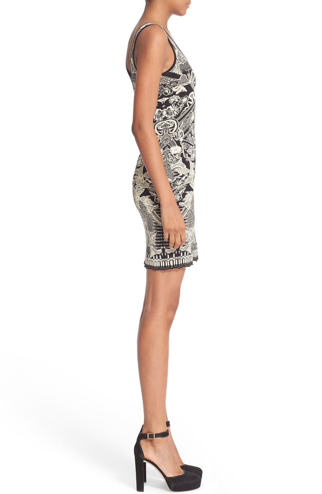 Alternate Image 5  - Roberto Cavalli Jacquard Knit Dress