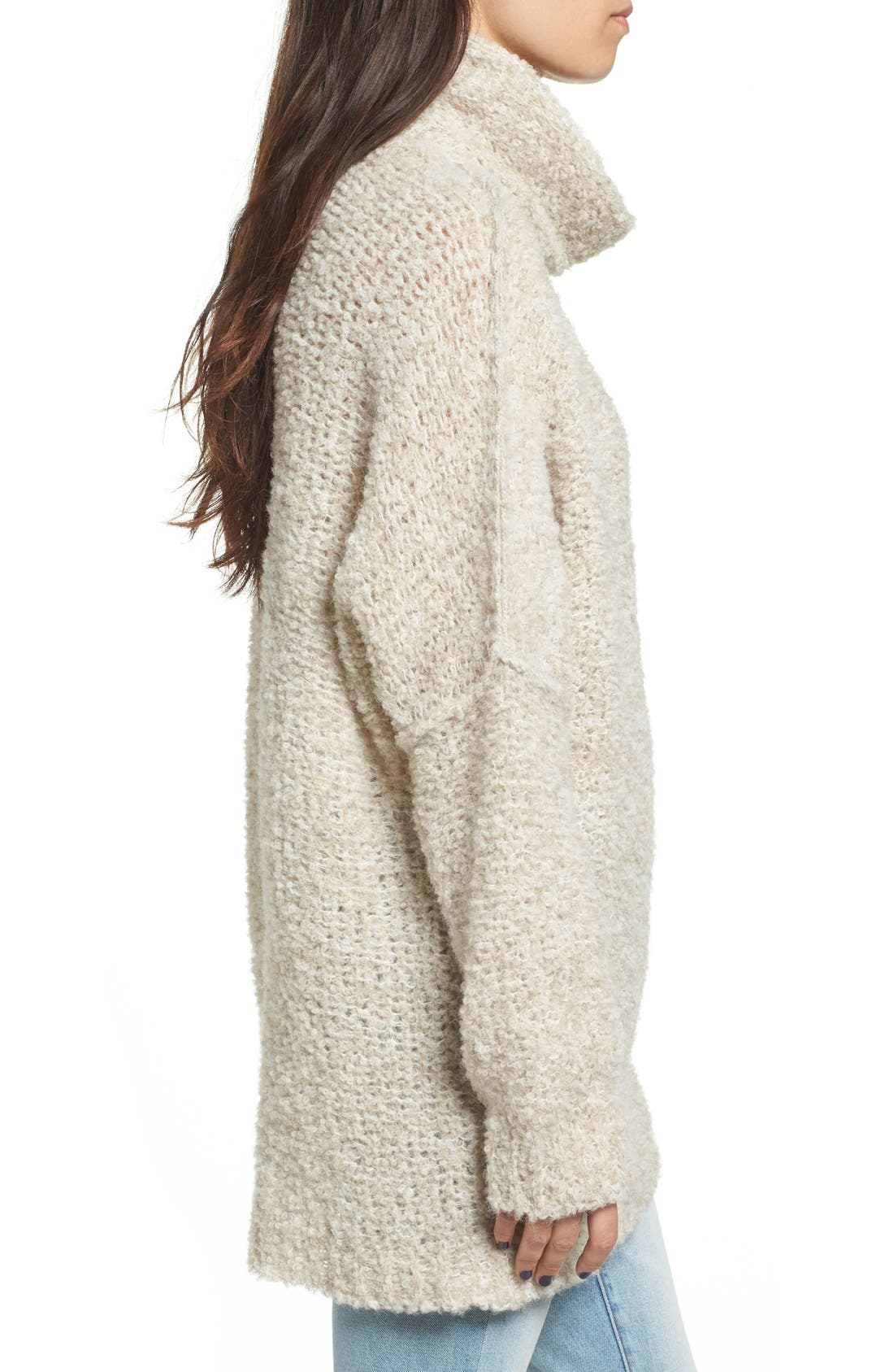 Alternate Image 3  - Free People 'She's All That' Knit Turtleneck Sweater